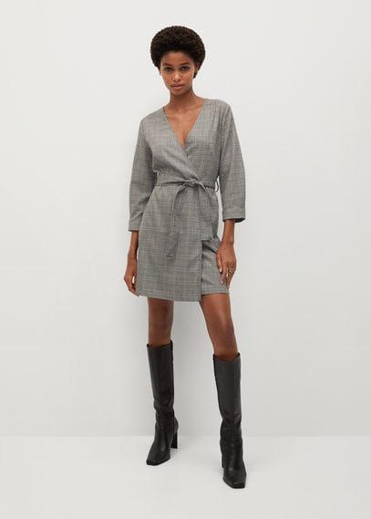 Платье с запáхом и поясом - Mila1