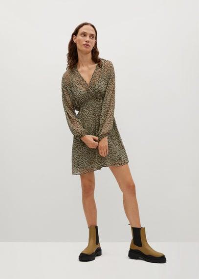 Платье с леопардовым принтом - Paula