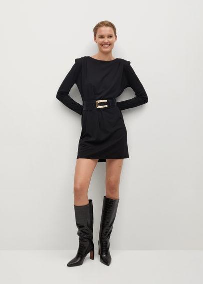 Платье с подплечниками - Alanis