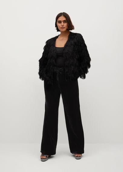 Фактурная куртка с бахромой - Pluma