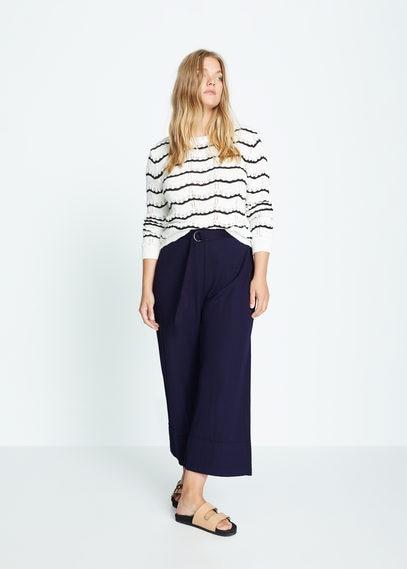 Укороченные брюки с ремнем - Gemma
