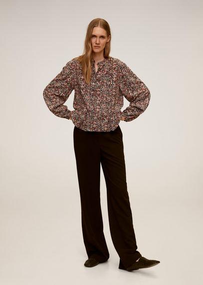 Блузка с цветочным принтом - Apple