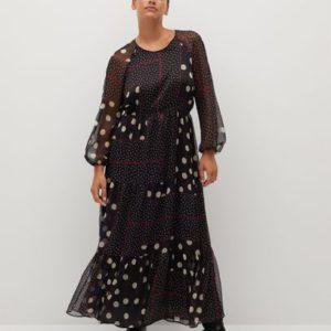 Длинное платье с принтом - Olivia