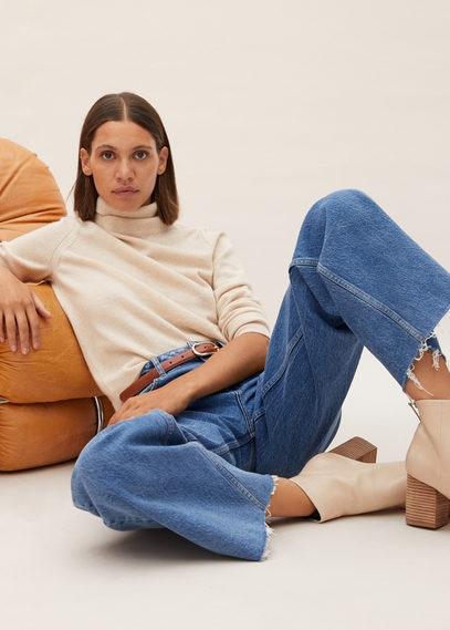 Кожаные ботинки на каблуке - Alba