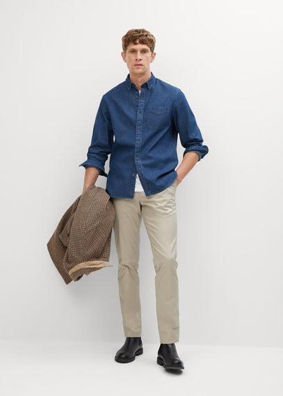 Хлопковая рубашка regular-fit из шамбре - Chambray