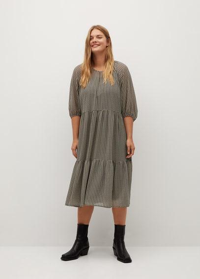 Миди-платье с принтом - Delhy