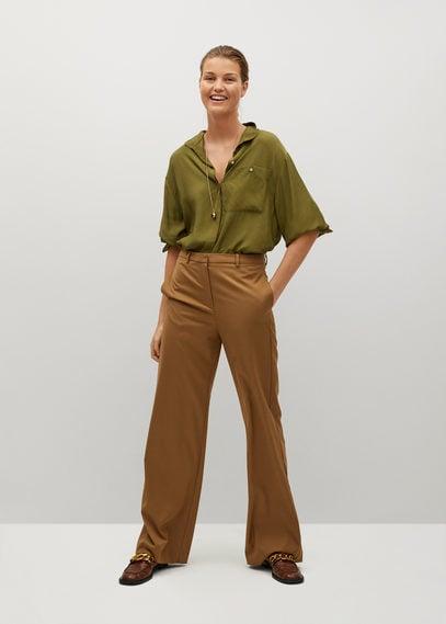Струящаяся рубашка с карманом - Lovita