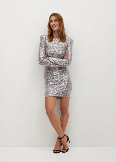 Короткое платье с пайетками - Lenjuela