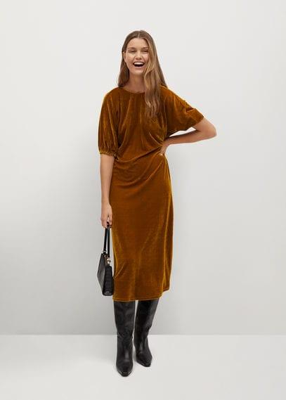 Струящееся платье из бархата - Gaby-i
