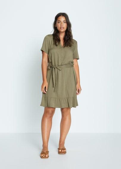 Короткое струящееся платье - Clarita7