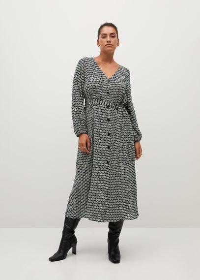 Миди-платье с принтом - Leopard7