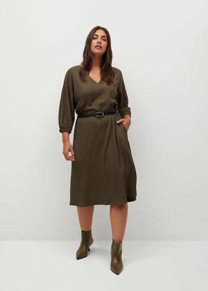 Короткое платье с поясом - Brownie