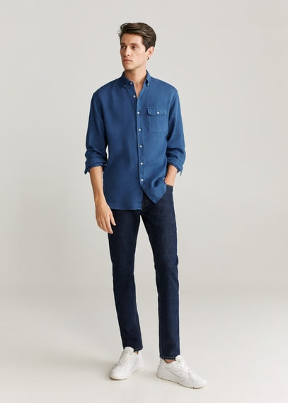 Рубашка regular fit 100% лен - Calcuta