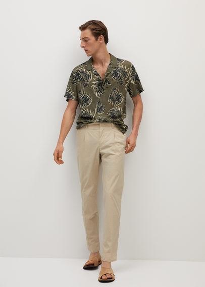 Струящаяся рубашка с гавайским принтом - Tole