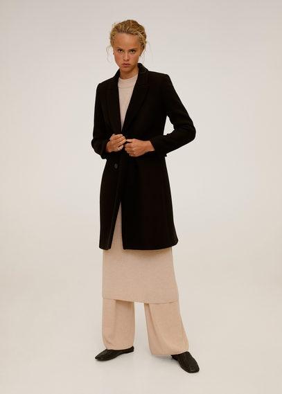 Двубортное пальто с шерстью - Dali