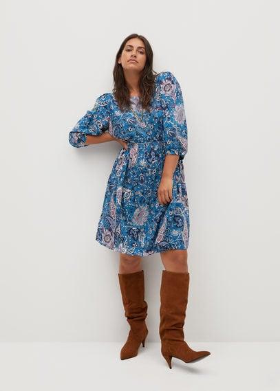 Струящееся платье пейсли - Plumas