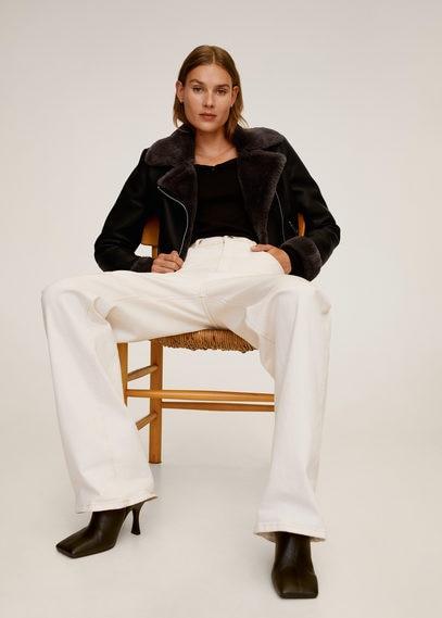 Байкерская куртка с мехом - Cadi