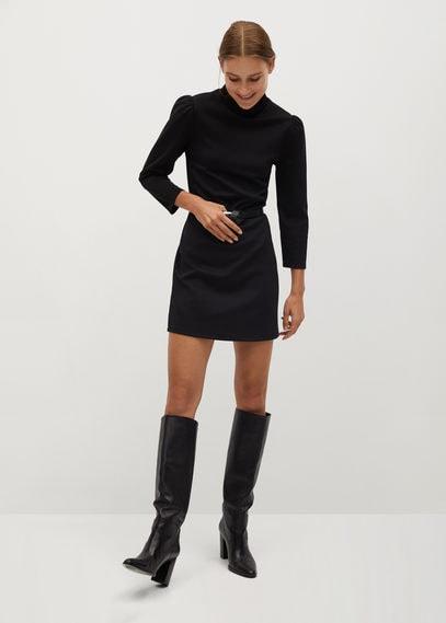 Платье с эластичным воротником - Angeles