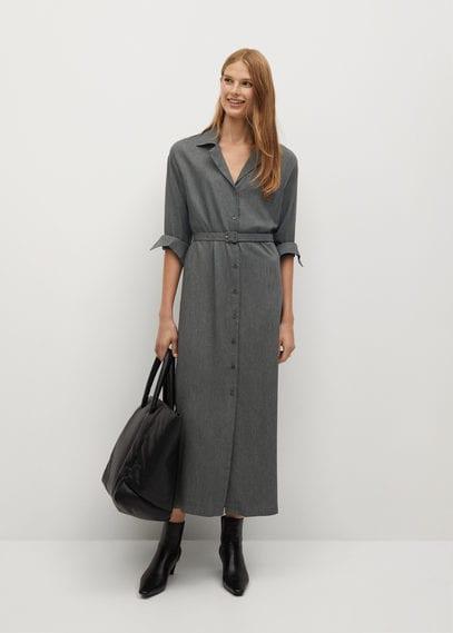 Платье-рубашка с ремешком - Boxy-i