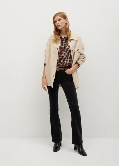 Расклешенные брюки бархат - Velvet