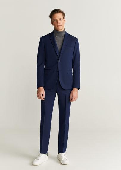 Костюмный фактурный пиджак super slim fit - Paulo