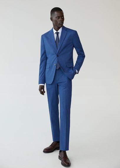 Костюмный пиджак slim fit с мелкой фактурной выделкой - Brasilia
