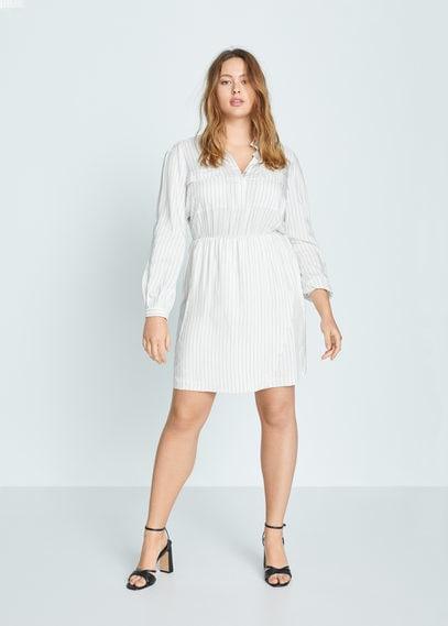 Платье-рубашка в полоску - Lineas-i