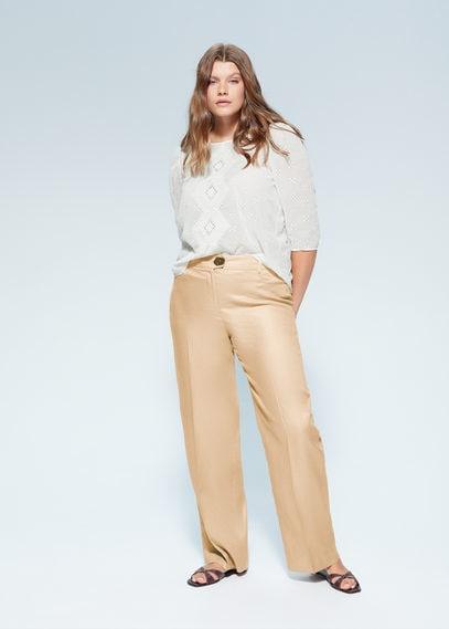 Блузка с вышивкой и перфорацией - Rombo