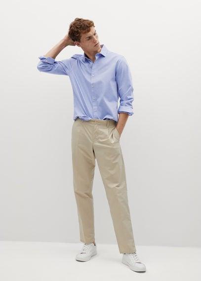 Рубашка slim fit из хлопка - Oxmart