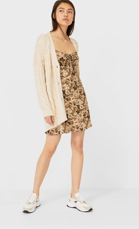 Платье С Корсетной Шнуровкой Женская Коллекция Multicolor M