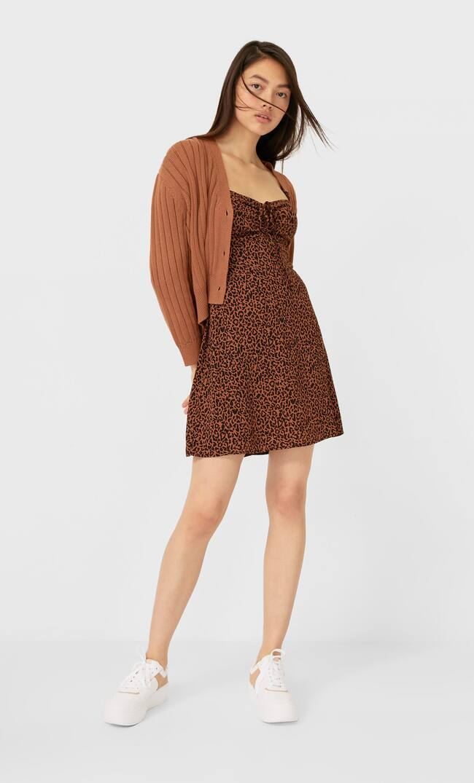 Платье С Корсетной Шнуровкой Женская Коллекция Цвет Светлой Верблюжьей Шерсти S