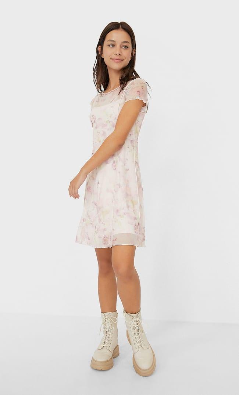 Платье Из Прозрачной Ткани С Принтом Тай-Дай Женская Коллекция Multicolor L