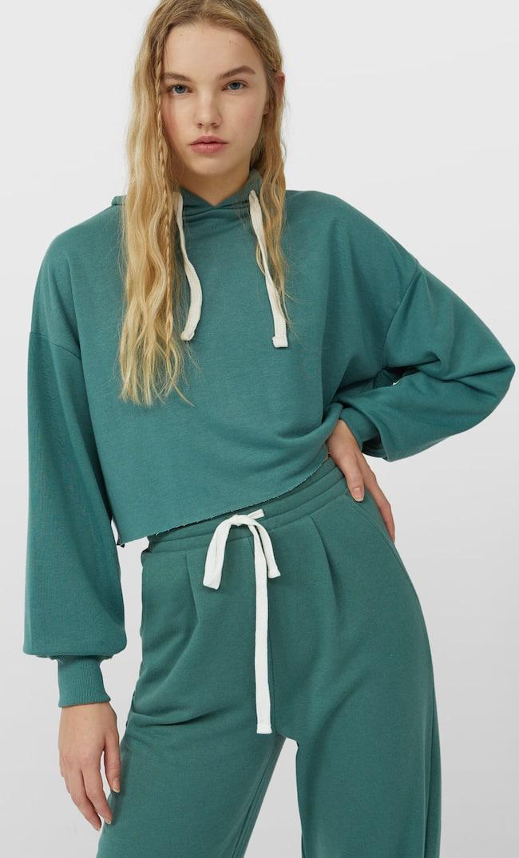 Базовое Худи Женская Коллекция Изумрудно-Зеленый M