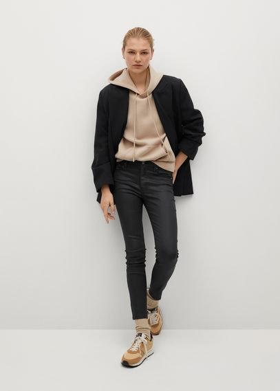 Укороченные вощеные джинсы-скинни Isa - Isa