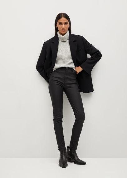 Вощеные джинсы-скинни Noa с завышенной талией - Noa
