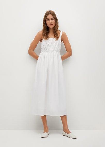 Ажурное платье из хлопка - Perla-h