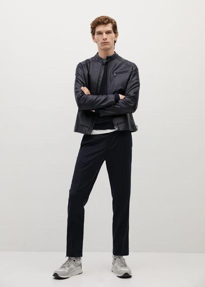Байкерская куртка с эффектом кожи - Joseno2