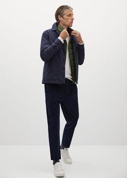Укороченные брюки tapered из микровельвета - Joen