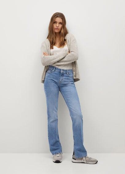 Прямые джинсы с разрезом - Bonny-i