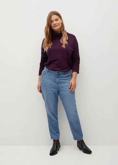 Вязаный свитер с высоким воротником - Rosco
