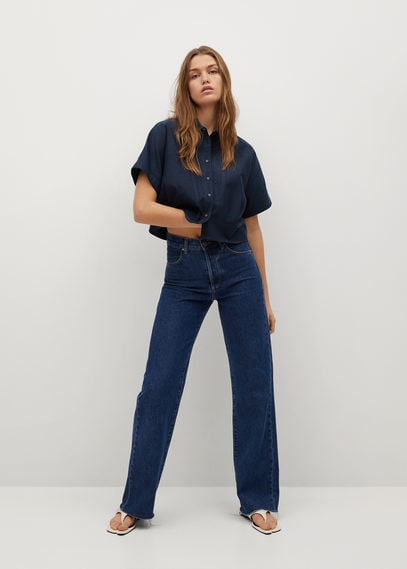 Укороченная рубашка со складками - Louisa-h