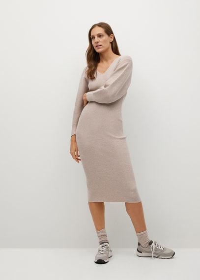 Трикотажное платье в резинку - Nibia