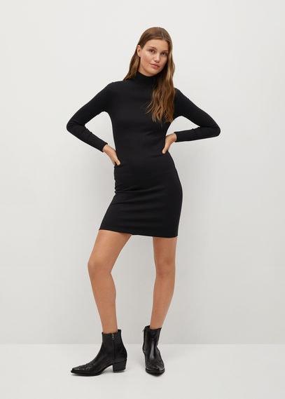 Облегающее платье с высоким воротником - Morisa