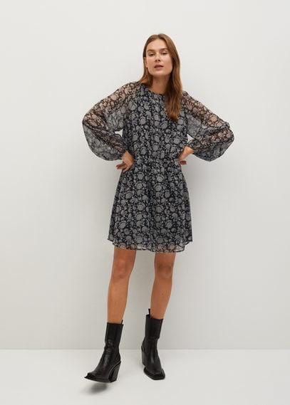 Струящееся платье с принтом - Maura