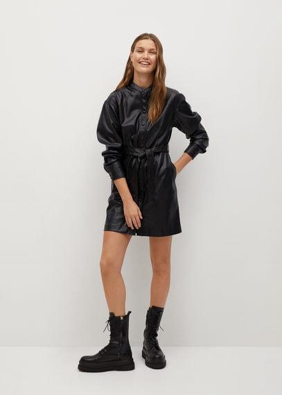 Платье-рубашка из искусственной кожи - Elia