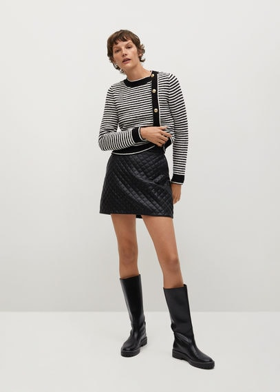 Стеганая мини-юбка - Recoco