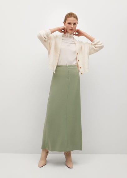 Длинная юбка с разрезом - Nube-a