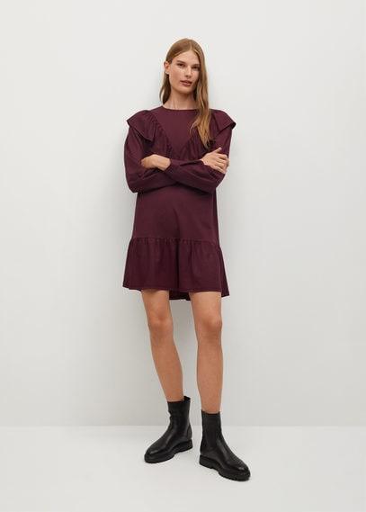 Струящееся платье с воланом - Adelina