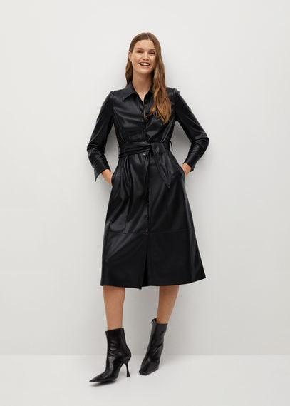 Платье-рубашка из искусственной кожи - Cintia