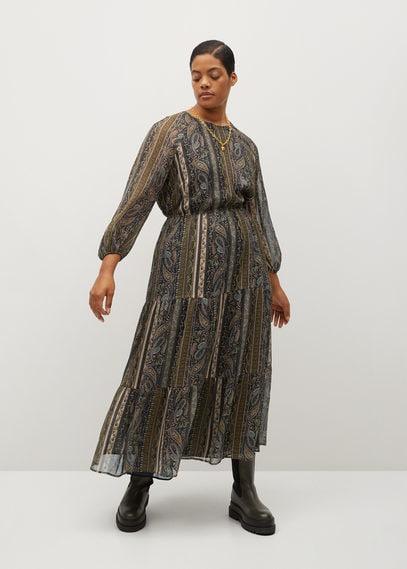Струящееся платье с принтом - David
